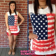 American Girl Flag Tank | Just in time for Fourth of July! | $19.95