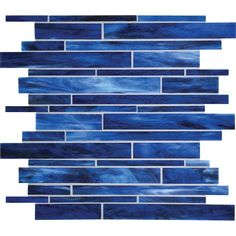 American Olean 12-in x 12-in Loren Place Ocean Wave Glass Mosaic Wall Tile at Lowe's Canada $13.98/sq ft