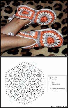 Zapatillas de plazas. / Ganchillo / ganchillo para principiantes