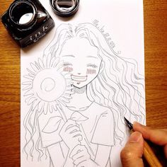 facing the sun!   #mekaworks #drawing