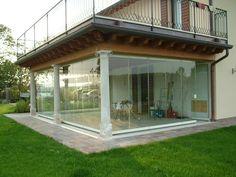 Vetrata pieghevole in alluminio senza telaio GIEMME SYSTEM® - Giemme Home - GM MORANDO