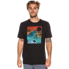 80de879403 Hurley Tropical Target SS Tee. Men s short sleeve tee. Regular fit. Crew  neckline