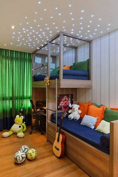 Awesome Quarto Infantil Decorado Pequeno that you must know, Youre in good company if you?re looking for Quarto Infantil Decorado Pequeno Kids Bedroom Designs, Boys Bedroom Decor, Bedroom Themes, Trendy Bedroom, Modern Bedroom, Bedroom Ideas, Bedroom Wall, Loft Bed Plans, Loft Bunk Beds