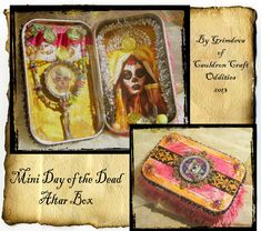 Miniature Tin Santa Muerte Altar Box- 1 by Grim