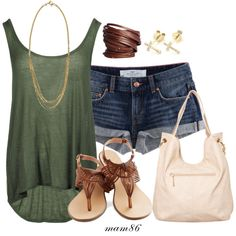 Simple Summer Outfit, created by midwest-meg86 on Polyvore