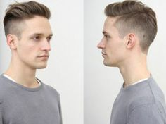 High fade undercut slick back hairstyle