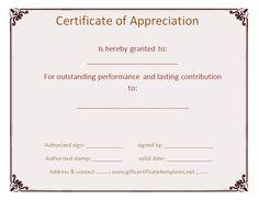 Custom certificate of appreciation - Free Certificate Templates