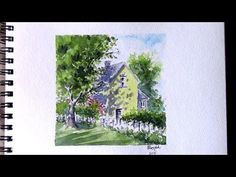 Line and Wash watercolor painting #9 - Vlog 17 - YouTube