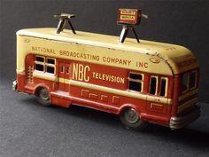 Tin Friction WNBT Wrca NBC Television News Bus Asahi Japan | eBay