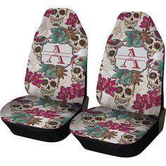 Sugar Skulls & Flowers Custom Car Seat Covers Set of by RNKShops