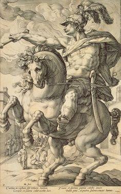 Hendrick Goltzius, history art prints - Marcus Curtius | Hermitage Museum