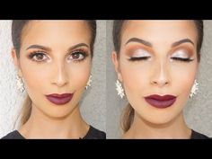 HI DARLINGS, this vampy Fall makeup tutorial was created when the Morphe Palette was in stock, and of course not it's not. Im not sure when its coming ba. Diy Beauty Makeup, Matte Makeup, Red Makeup, Kiss Makeup, Makeup Geek, Dark Purple Lips, Burgundy Lips, Dark Lips, Makeup Trends