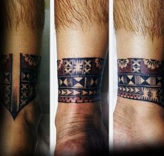 Guys Tattoo Ideas Tribal Indian Ankle Band Designs