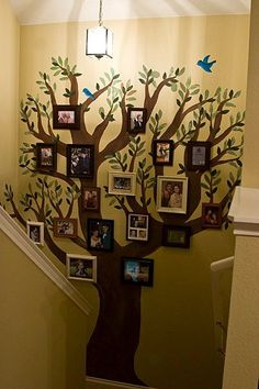 Thanksgiving tree, paste fabric trunk to wall, add fabric leaves with gratitudes written on them.