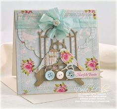 card designed by Debbie Olson using JustRite Just Because Mini Sentiments