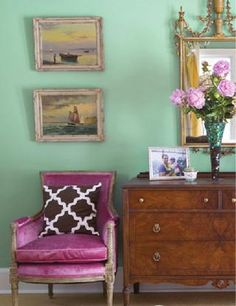 This color combination is amazing ( interior by  http://www.marmaladeinteriors.com/ )