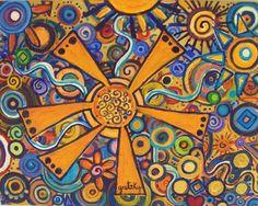 ☯☮ॐ American Hippie Psychedelic Art Sun