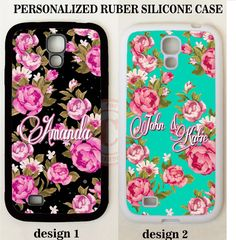 SHABBY CHIC PINK FLORAL MONOGRAM PHONE Case For Samsung Galaxy S7 S6 S5 NOTE 5 4 #UnbrandedGeneric