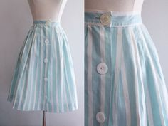 1950s Striped Skirt / Vintage 50s Light by SavvySpinsterVintage, $48.00