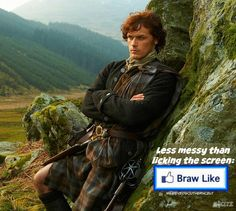 Like, but try not to LICK the photo of Jamie Fraser. #Outlander WildEyedSouthernCelt.com