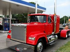 Mack Superliner.Superliner 2, we had one without the sleeper, v8 plus air shift 16 + a hi -low second stick.   www.waffco.net