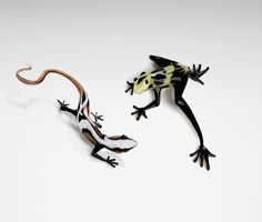 Lizard by Jennifer Caldwell. Art Glass Sculpture available at www.artfulhome.com