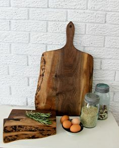 Charcuterie serving Board Black Walnut with by LivingWoodDesign, $98.00