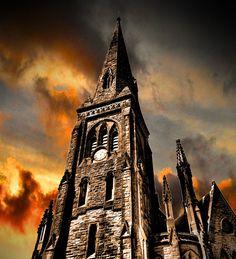 Greyfriars Kirk, Dumfries, Scotland.  John Comyn III was stabbed to death by Robert De Bruce here on February 10, 1306.