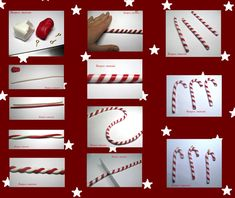 polymer candy canes but same technique can be applied to fondant