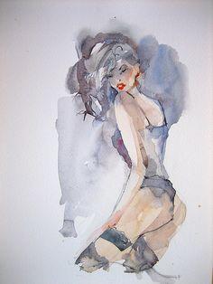anelest's photostream Dresden, Watercolor Art, Fashion Drawings, Painting, Watercolours, Figurative, Medium, The Originals, Kunst