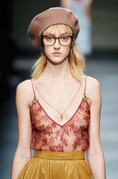 Gucci showed berets as a statement accessory this season