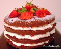Naked Cake - Doce Bolinho by Ro