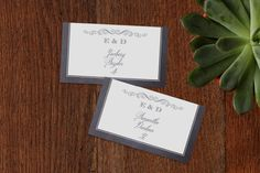 A Chalkboard Marriage Place Cards by Erin Deegan at minted.com