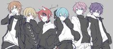 Cute Anime Chibi, Kawaii Chibi, Cool Anime Guys, Cute Anime Boy, Cute Anime Character, Character Art, Anime Images, Anime Wolf Girl, Anime Best Friends