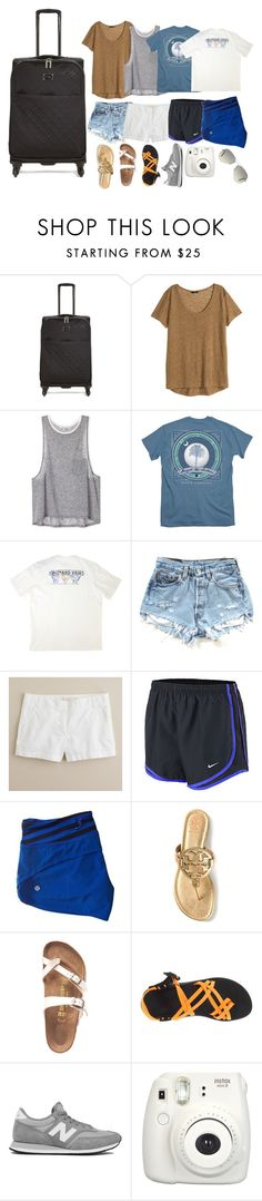 """""""day 5- what to pack?"""" by serenag123 ❤ liked on Polyvore featuring Vera Bradley, H&M, Vineyard Vines, J.Crew, NIKE, Tory Burch, Birkenstock, Chaco, New Balance and Ray-Ban"""
