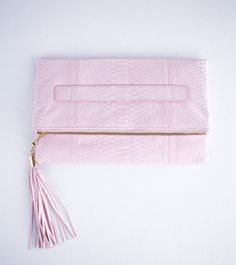 Presmer — Wearstler clutch in salmon - python accessories