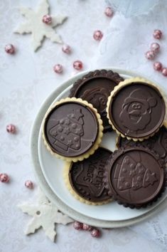 Csak a Puffin Christmas Sweets, Christmas Desserts, Stamp Cookies Recipe, Cookie Recipes, Dessert Recipes, Chocolate Cookies, Pavlova, Cookie Decorating, Christmas Cookies