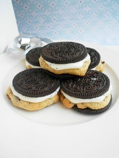 Chocolate Chip Cookie Stuffed Oreos