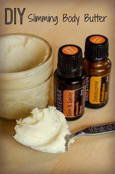 DIY Slimming Body Butter Recipe - will fragrance with something else, like the way the consistency of the butter looks.