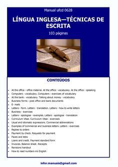 ufcd 0628. Língua inglesa - Técnicas de escrita