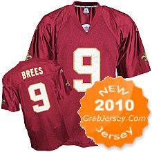 25.00 2010 NFL Jersey New Orleans Saints Drew Brees  9 Red f72f7b25398