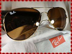 Vintage New Old Stock: Ray-Ban Aviator Sunglasses, RB3025, Brown B-15 Lenses! Retro Hot Now & Wow Ray Bans! on Etsy, $75.00