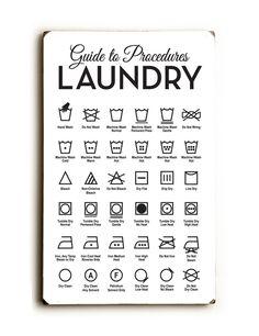 Laundry Symbols Poster Modern