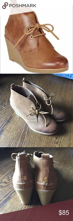 Sperry Harlow wedge boogie Brand new with box Sperry Top-Sider Shoes Wedges
