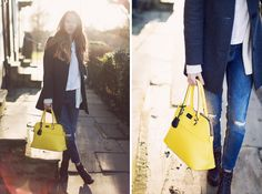 street style yellow bag - Google-Suche