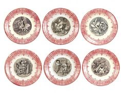 Sarreguemines Plates with Dental Illustrations - Phisick   Medical Antiques