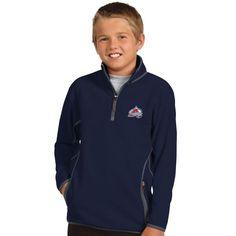 Colorado Avalanche Antigua Youth Ice 1/4 Zip Fleece Pullover Jacket - Navy - $44.99