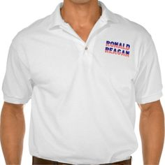 """President Ronald Reagan """"Star Spangled"""" Polo Shirts. The Gildan Jersey Polo Shirt is a must-have for summer days. Made of 100% cotton, this top will keep you comfortable no matter how hot the weather gets. Wear it while doing yardwork, playing volleyball on the beach, or simply hanging out."""