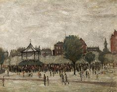 Bandstand, Peel Park 1928 (Oil on board) Tate Britain, Park Art, English Artists, Art Database, Art Uk, Naive Art, My Arts, Modern, Pictures