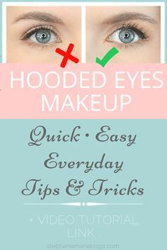 Hooded eye makeup tutorial. An everyday, realistic, natural, easy hooded eyes makeup tutorial for when you need to do your makeup quickly and don't want dramatic shadow, winged liner or false lashes. Subtle tweaks can make a difference in how lifted and awake the eyes look.